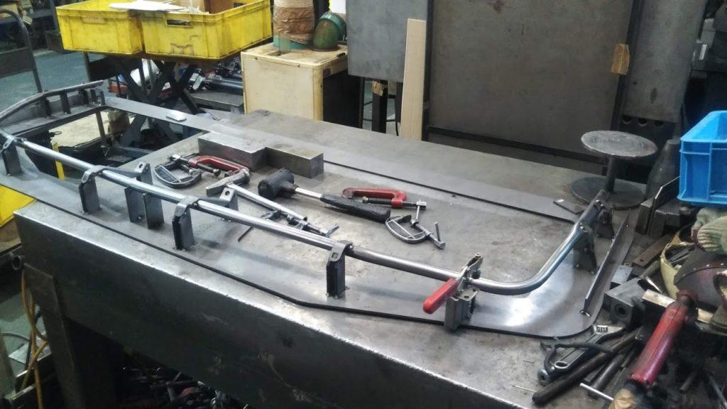 IGESから作製溶接冶具